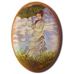 Ovale - Donna con ombrello